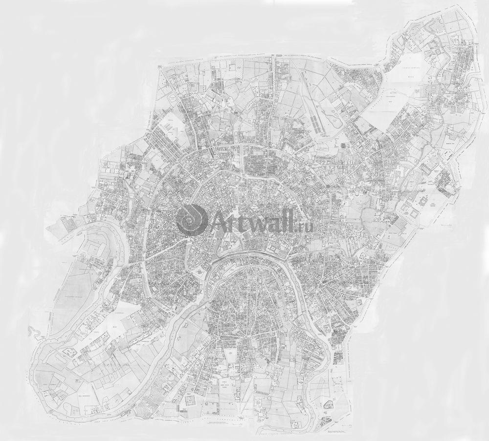 Москва - старинные карты, картина Карта Москвы 1852 годаМосква - старинные карты<br>Репродукция на холсте или бумаге. Любого нужного вам размера. В раме или без. Подвес в комплекте. Трехслойная надежная упаковка. Доставим в любую точку России. Вам осталось только повесить картину на стену!<br>