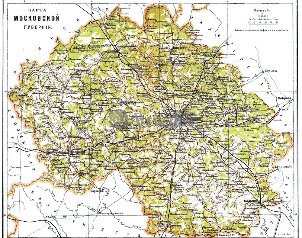 Москва - старинные карты, картина