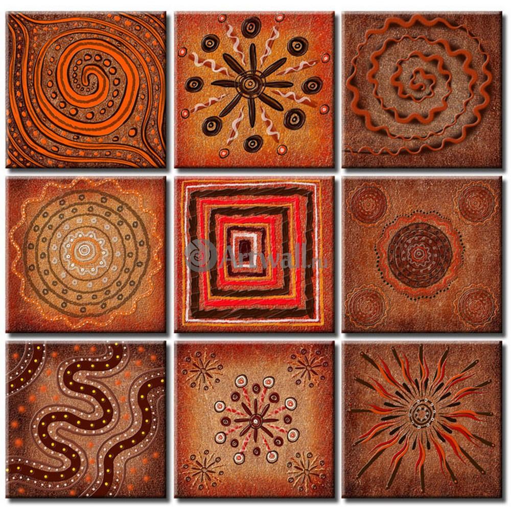 Модульная картина «Африканские узоры»Абстракция<br>Модульная картина на натуральном холсте и деревянном подрамнике. Подвес в комплекте. Трехслойная надежная упаковка. Доставим в любую точку России. Вам осталось только повесить картину на стену!<br>