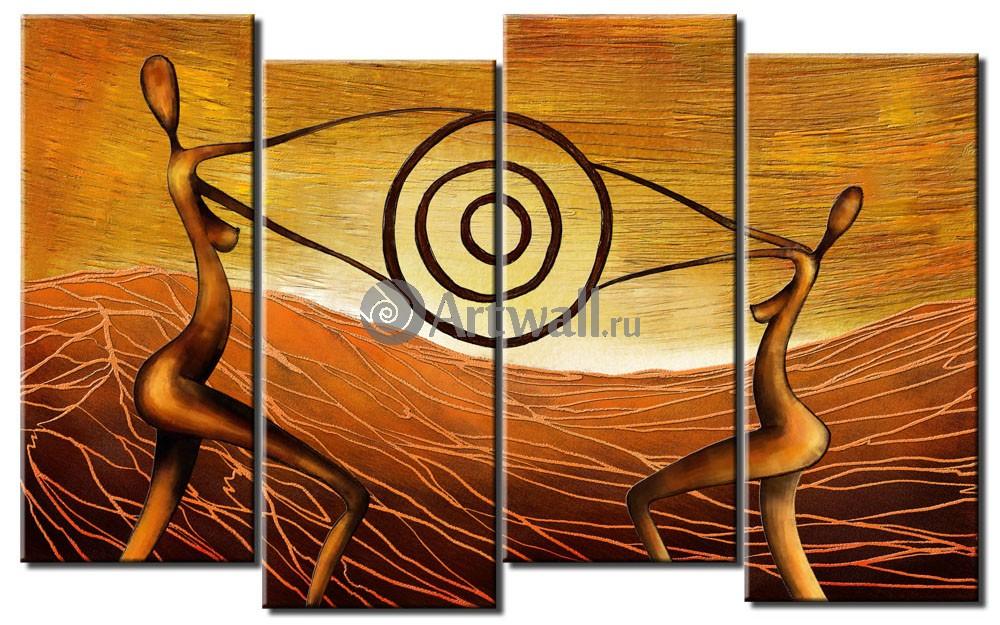Модульная картина «Взаимосвязь»Люди<br>Модульная картина на натуральном холсте и деревянном подрамнике. Подвес в комплекте. Трехслойная надежная упаковка. Доставим в любую точку России. Вам осталось только повесить картину на стену!<br>