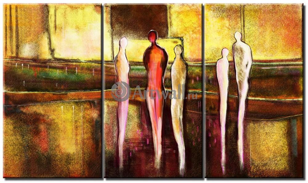 Модульная картина «Беседы»Люди<br>Модульная картина на натуральном холсте и деревянном подрамнике. Подвес в комплекте. Трехслойная надежная упаковка. Доставим в любую точку России. Вам осталось только повесить картину на стену!<br>