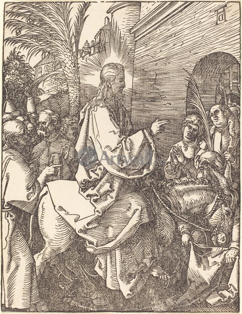 Дюрер Альбрехт, картина Иисус въезжает в ИерусалимДюрер Альбрехт<br>Репродукция на холсте или бумаге. Любого нужного вам размера. В раме или без. Подвес в комплекте. Трехслойная надежная упаковка. Доставим в любую точку России. Вам осталось только повесить картину на стену!<br>
