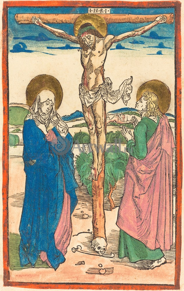 Дюрер Альбрехт, картина Иисус на кресте между богоматерью и св ИоанномДюрер Альбрехт<br>Репродукция на холсте или бумаге. Любого нужного вам размера. В раме или без. Подвес в комплекте. Трехслойная надежная упаковка. Доставим в любую точку России. Вам осталось только повесить картину на стену!<br>