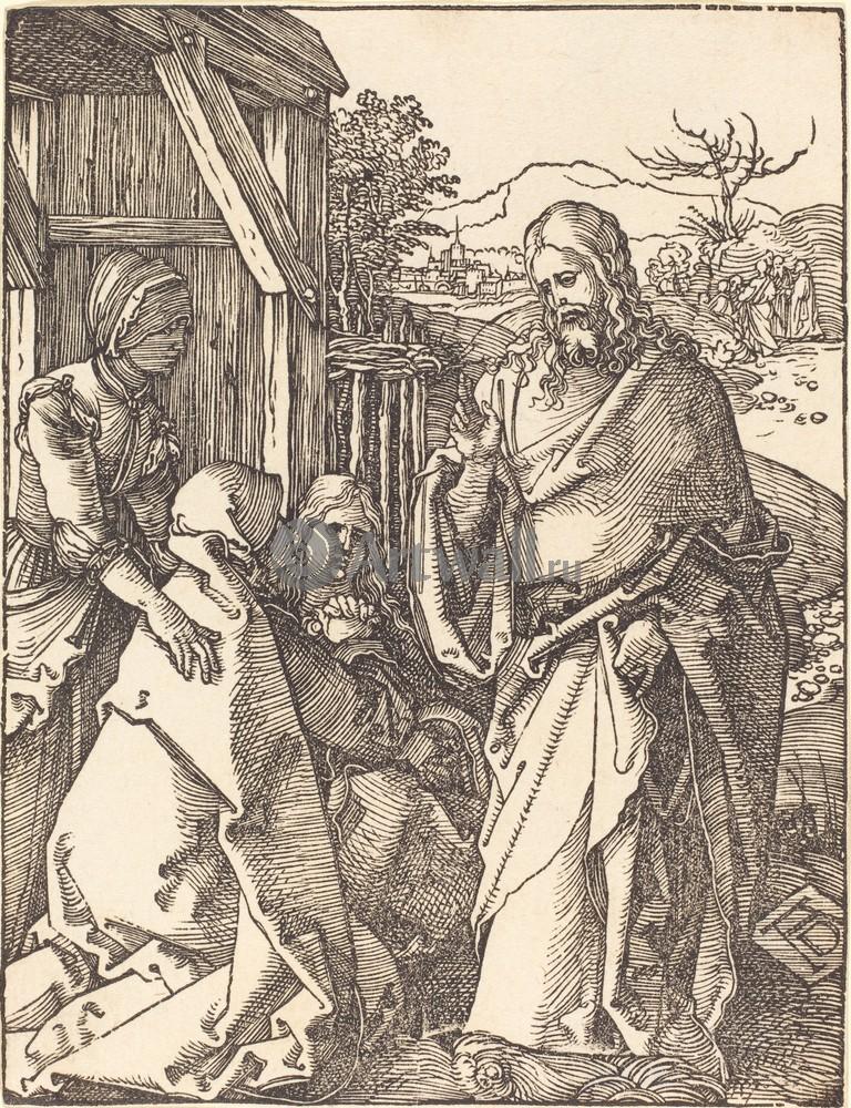 Дюрер Альбрехт, картина Иисус прощается с матерьюДюрер Альбрехт<br>Репродукция на холсте или бумаге. Любого нужного вам размера. В раме или без. Подвес в комплекте. Трехслойная надежная упаковка. Доставим в любую точку России. Вам осталось только повесить картину на стену!<br>