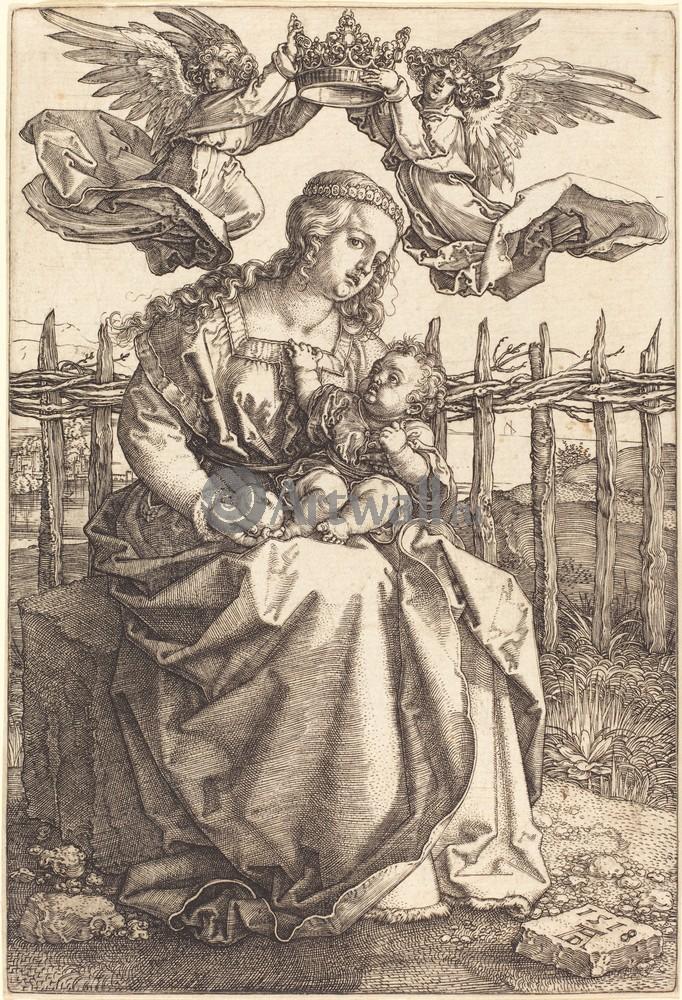 Дюрер Альбрехт, картина Мадонна с младенцем и два ангелаДюрер Альбрехт<br>Репродукция на холсте или бумаге. Любого нужного вам размера. В раме или без. Подвес в комплекте. Трехслойная надежная упаковка. Доставим в любую точку России. Вам осталось только повесить картину на стену!<br>