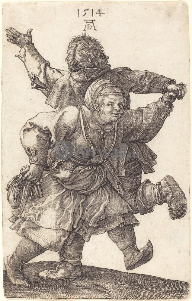 Дюрер Альбрехт, картина Танцующие крестьянеДюрер Альбрехт<br>Репродукция на холсте или бумаге. Любого нужного вам размера. В раме или без. Подвес в комплекте. Трехслойная надежная упаковка. Доставим в любую точку России. Вам осталось только повесить картину на стену!<br>