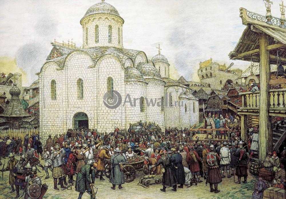 Москва - старинная живопись и графика, картина
