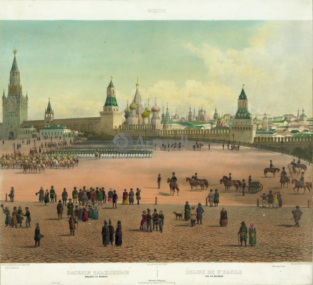 Искусство, картина Панорама Москвы, 22x20 см, на бумагеМосква - старинная живопись и графика<br>Постер на холсте или бумаге. Любого нужного вам размера. В раме или без. Подвес в комплекте. Трехслойная надежная упаковка. Доставим в любую точку России. Вам осталось только повесить картину на стену!<br>