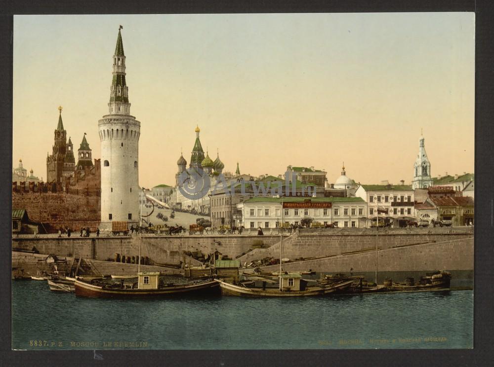 Постер Москва - старые фотографии Кремль и Красная площадьМосква - старые фотографии<br>Постер на холсте или бумаге. Любого нужного вам размера. В раме или без. Подвес в комплекте. Трехслойная надежная упаковка. Доставим в любую точку России. Вам осталось только повесить картину на стену!<br>