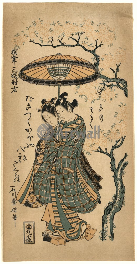 Японская гравюра Красавицы,