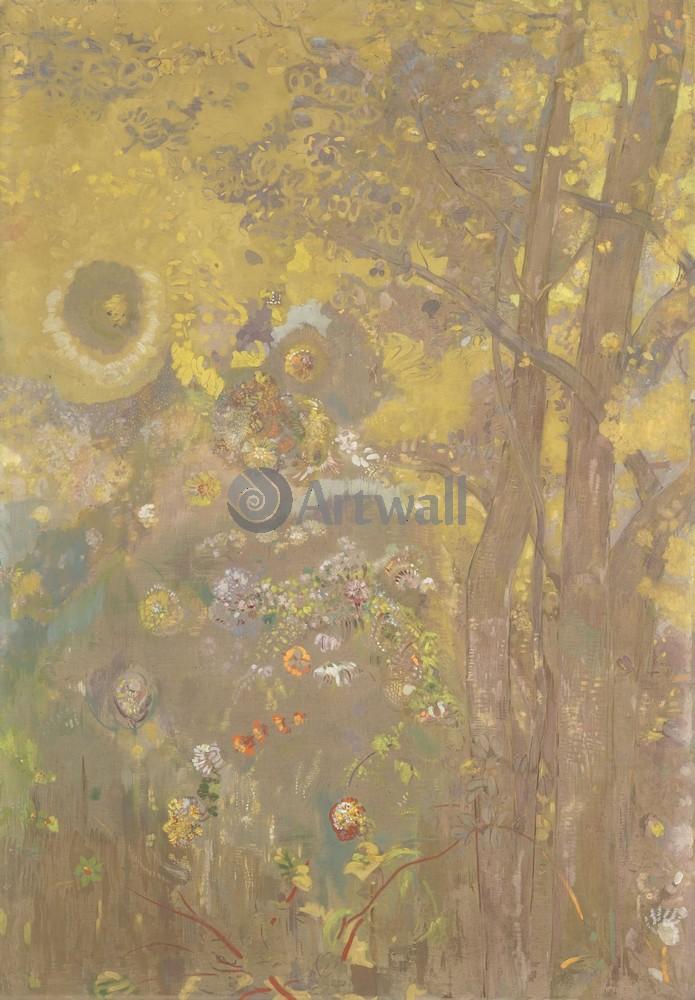 Редон Одилон, картина Деревья на желтом фонеРедон Одилон<br>Репродукция на холсте или бумаге. Любого нужного вам размера. В раме или без. Подвес в комплекте. Трехслойная надежная упаковка. Доставим в любую точку России. Вам осталось только повесить картину на стену!<br>