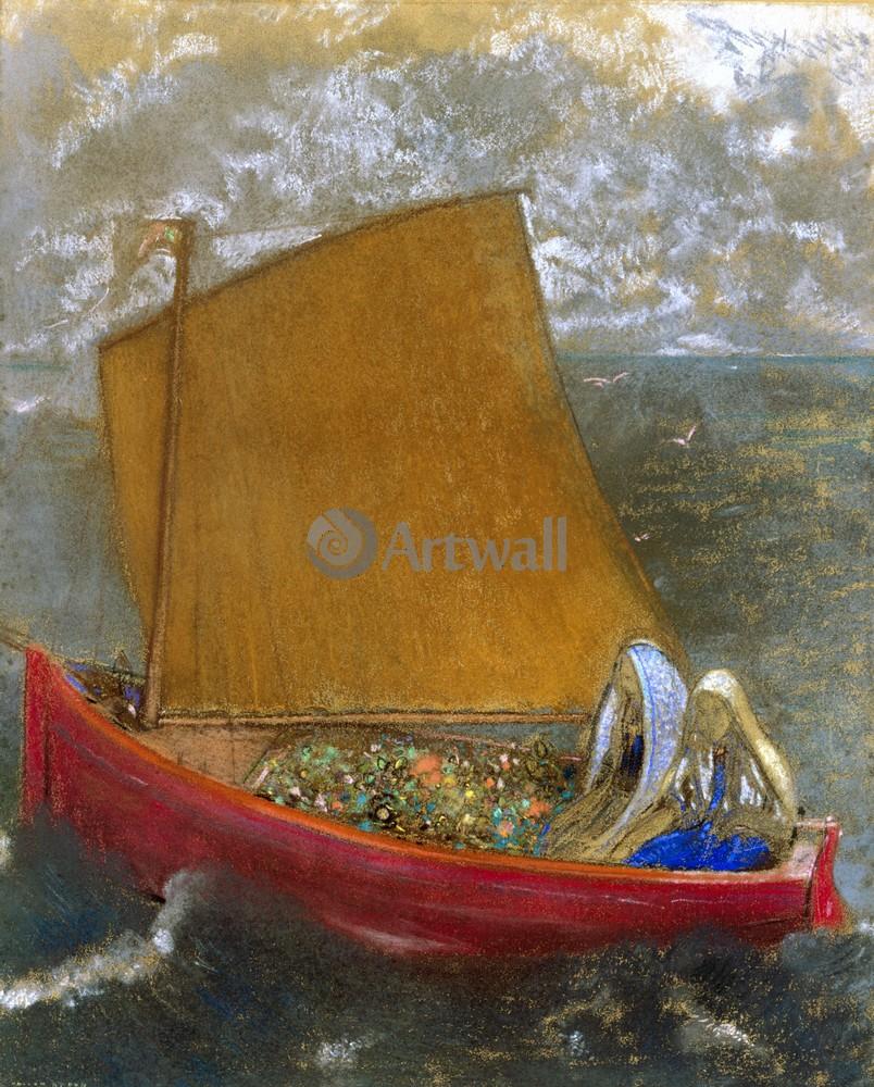 Редон Одилон, картина Желтая лодкаРедон Одилон<br>Репродукция на холсте или бумаге. Любого нужного вам размера. В раме или без. Подвес в комплекте. Трехслойная надежная упаковка. Доставим в любую точку России. Вам осталось только повесить картину на стену!<br>