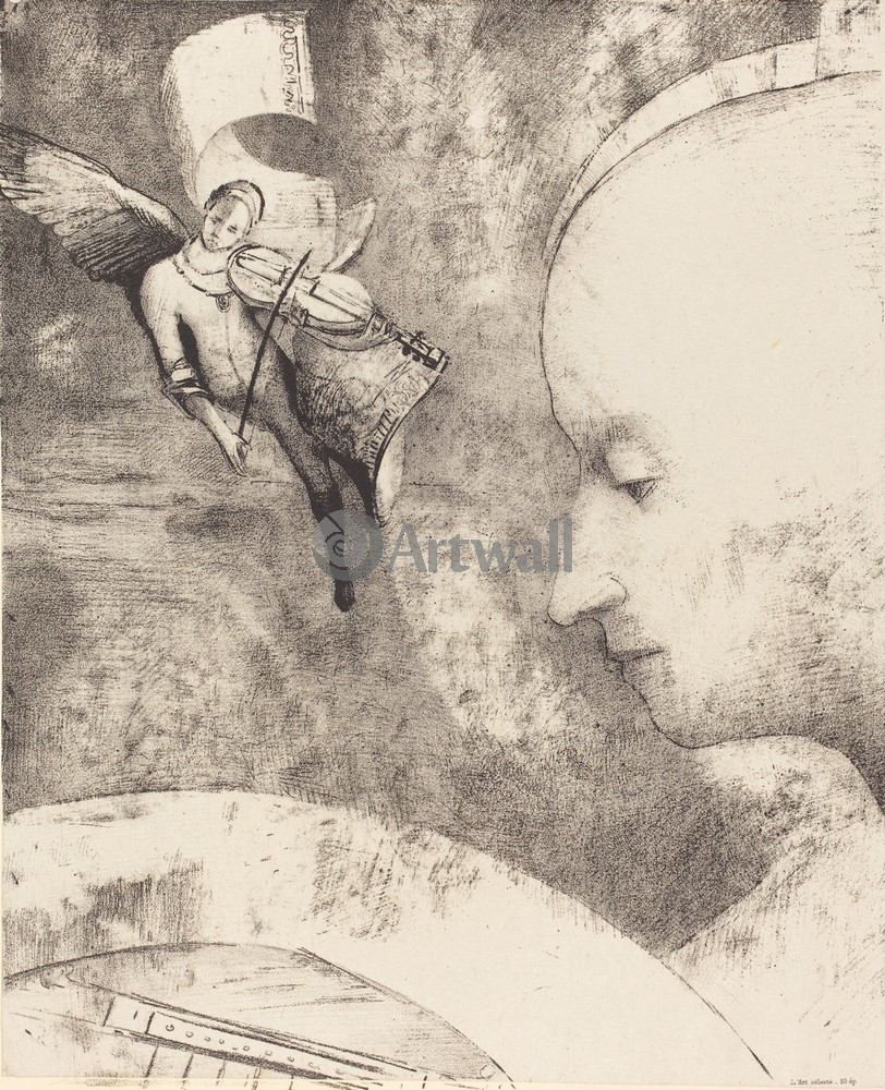 Редон Одилон, картина Небесное искусствоРедон Одилон<br>Репродукция на холсте или бумаге. Любого нужного вам размера. В раме или без. Подвес в комплекте. Трехслойная надежная упаковка. Доставим в любую точку России. Вам осталось только повесить картину на стену!<br>