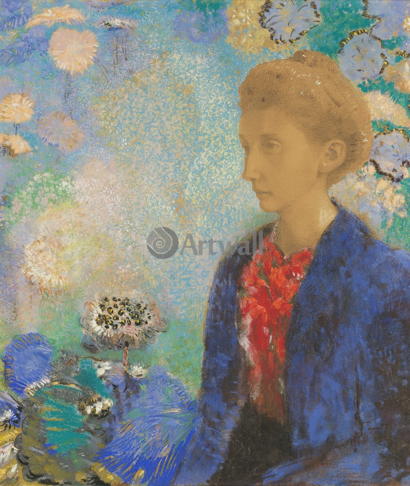 Редон Одилон, картина Портрет баронессы ДомсиРедон Одилон<br>Репродукция на холсте или бумаге. Любого нужного вам размера. В раме или без. Подвес в комплекте. Трехслойная надежная упаковка. Доставим в любую точку России. Вам осталось только повесить картину на стену!<br>