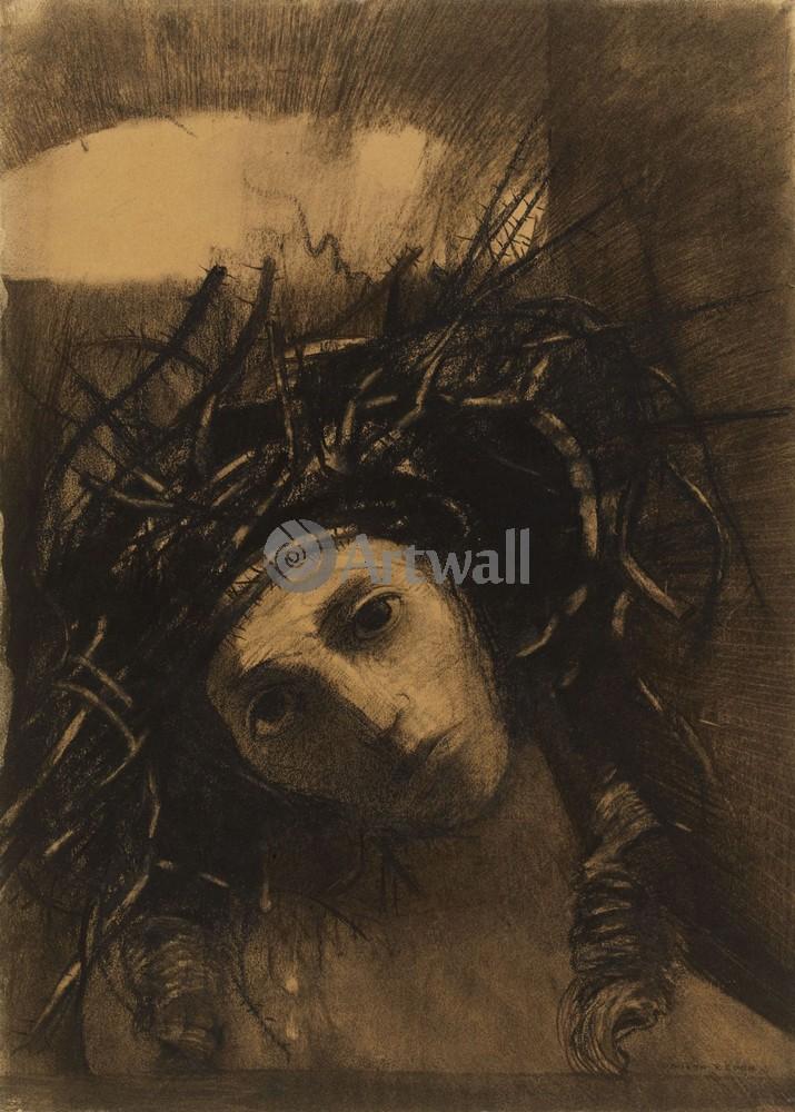 Редон Одилон, картина Христос в терновом венцеРедон Одилон<br>Репродукция на холсте или бумаге. Любого нужного вам размера. В раме или без. Подвес в комплекте. Трехслойная надежная упаковка. Доставим в любую точку России. Вам осталось только повесить картину на стену!<br>
