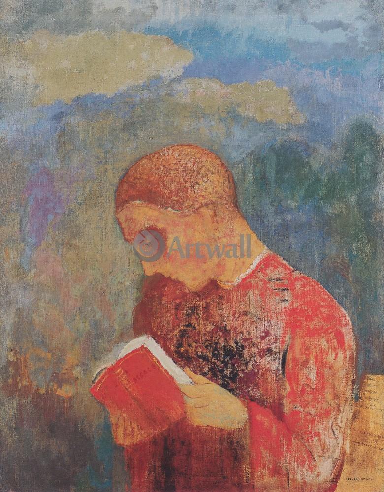 Редон Одилон, картина Читающий монахРедон Одилон<br>Репродукция на холсте или бумаге. Любого нужного вам размера. В раме или без. Подвес в комплекте. Трехслойная надежная упаковка. Доставим в любую точку России. Вам осталось только повесить картину на стену!<br>