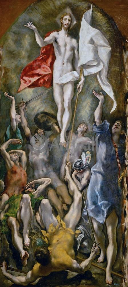 Эль Греко, картина Воскресение ХристовоЭль Греко<br>Репродукция на холсте или бумаге. Любого нужного вам размера. В раме или без. Подвес в комплекте. Трехслойная надежная упаковка. Доставим в любую точку России. Вам осталось только повесить картину на стену!<br>