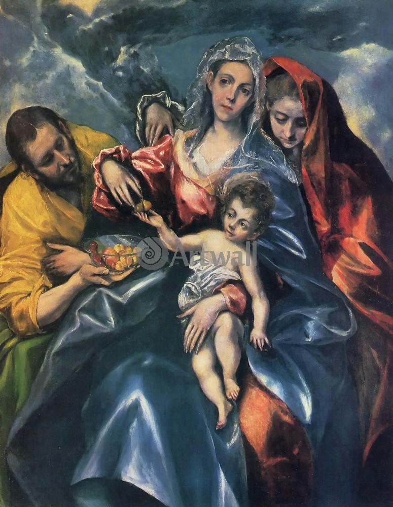 Эль Греко, картина Святое семейство с Марией МагдалинойЭль Греко<br>Репродукция на холсте или бумаге. Любого нужного вам размера. В раме или без. Подвес в комплекте. Трехслойная надежная упаковка. Доставим в любую точку России. Вам осталось только повесить картину на стену!<br>