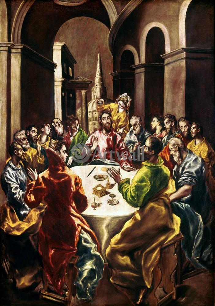 Эль Греко, картина Христос в доме Симона фарисеяЭль Греко<br>Репродукция на холсте или бумаге. Любого нужного вам размера. В раме или без. Подвес в комплекте. Трехслойная надежная упаковка. Доставим в любую точку России. Вам осталось только повесить картину на стену!<br>