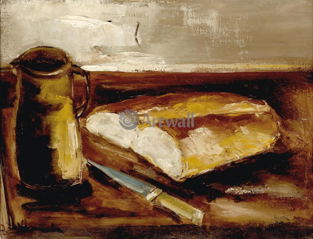 Вламинк Морис, картина Натюрморт с хлебомВламинк Морис<br>Репродукция на холсте или бумаге. Любого нужного вам размера. В раме или без. Подвес в комплекте. Трехслойная надежная упаковка. Доставим в любую точку России. Вам осталось только повесить картину на стену!<br>