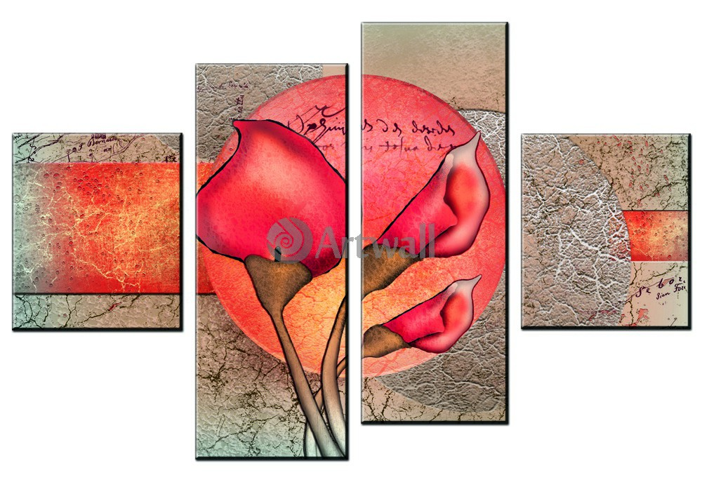 Модульная картина «Розовые каллы»Цветы<br>Модульная картина на натуральном холсте и деревянном подрамнике. Подвес в комплекте. Трехслойная надежная упаковка. Доставим в любую точку России. Вам осталось только повесить картину на стену!<br>
