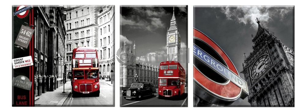 Модульная картина «Образы Лондона»Города<br>Модульная картина на натуральном холсте и деревянном подрамнике. Подвес в комплекте. Трехслойная надежная упаковка. Доставим в любую точку России. Вам осталось только повесить картину на стену!<br>