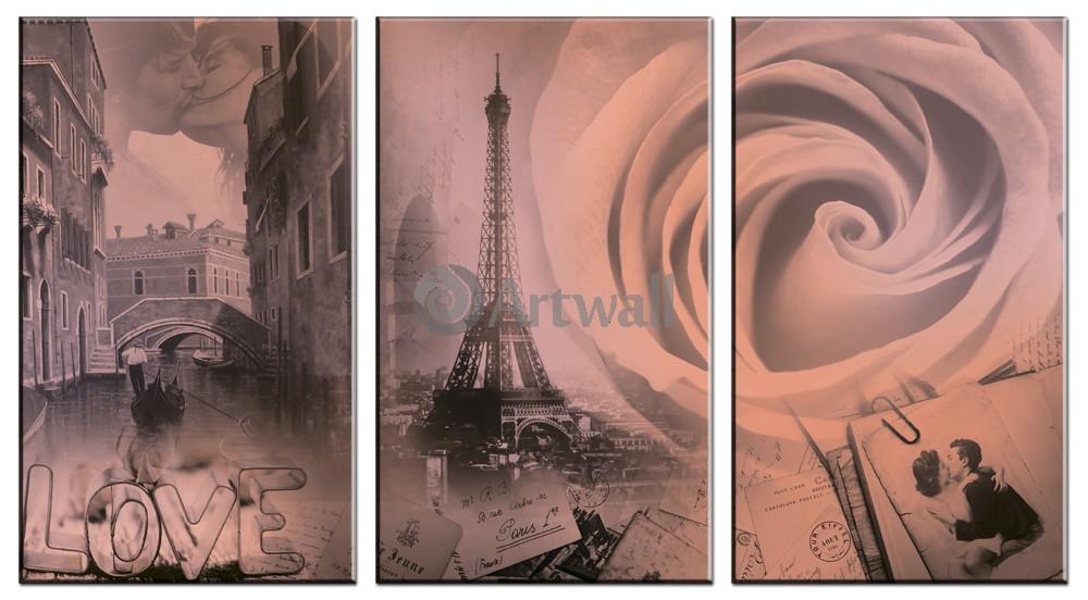 Модульная картина «Романтические воспоминания»Города<br>Модульная картина на натуральном холсте и деревянном подрамнике. Подвес в комплекте. Трехслойная надежная упаковка. Доставим в любую точку России. Вам осталось только повесить картину на стену!<br>