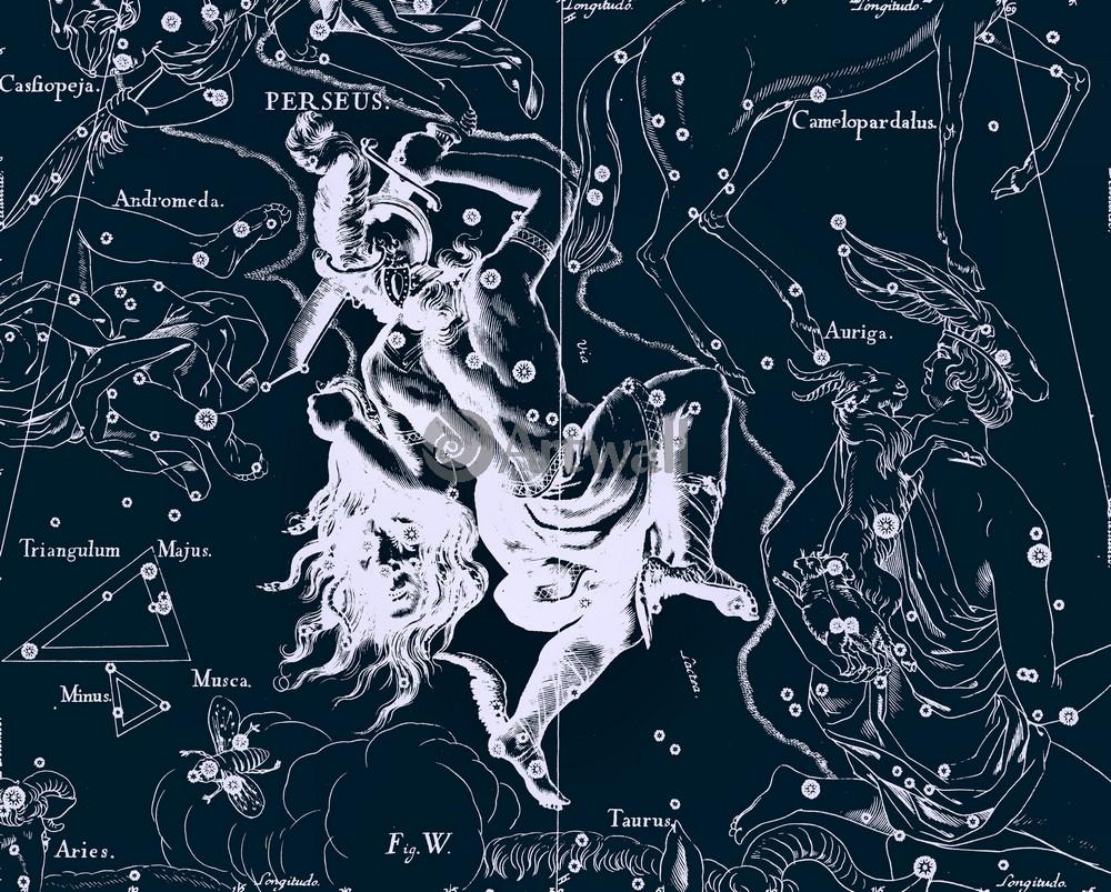 Постер Карты созвездий Perseus - ПерсейКарты созвездий<br>Постер на холсте или бумаге. Любого нужного вам размера. В раме или без. Подвес в комплекте. Трехслойная надежная упаковка. Доставим в любую точку России. Вам осталось только повесить картину на стену!<br>