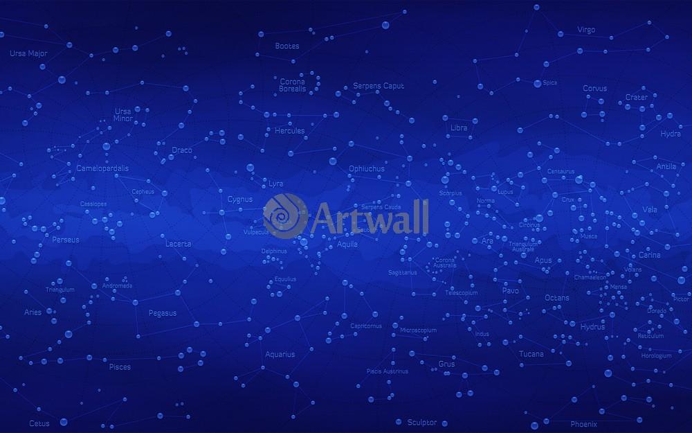 Постер Карты звездного неба Карта звездного неба 44576Карты звездного неба<br>Постер на холсте или бумаге. Любого нужного вам размера. В раме или без. Подвес в комплекте. Трехслойная надежная упаковка. Доставим в любую точку России. Вам осталось только повесить картину на стену!<br>