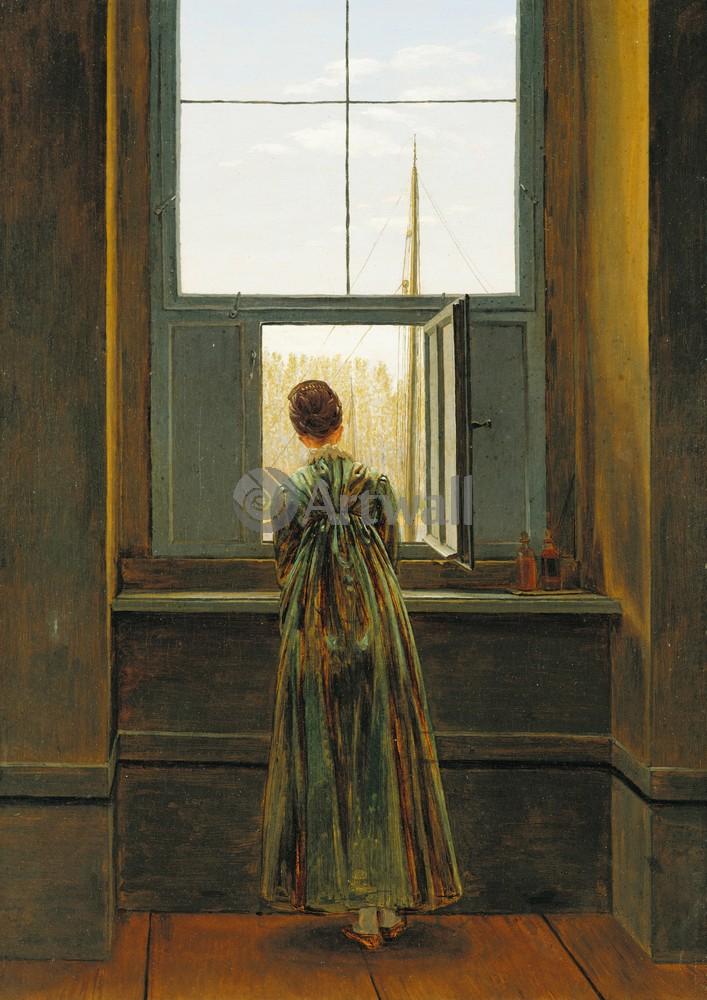Каспар Фридрих, картина Женщина у окнаКаспар Фридрих<br>Репродукция на холсте или бумаге. Любого нужного вам размера. В раме или без. Подвес в комплекте. Трехслойная надежная упаковка. Доставим в любую точку России. Вам осталось только повесить картину на стену!<br>
