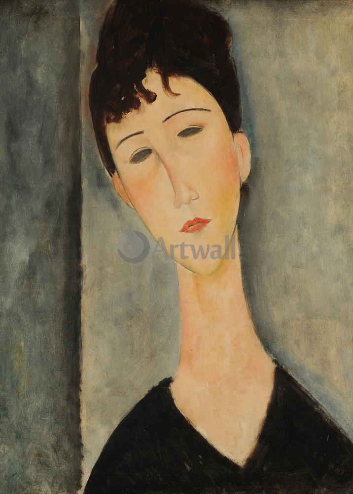 Модильяни Амадео, картина Женский портретМодильяни Амадео<br>Репродукция на холсте или бумаге. Любого нужного вам размера. В раме или без. Подвес в комплекте. Трехслойная надежная упаковка. Доставим в любую точку России. Вам осталось только повесить картину на стену!<br>