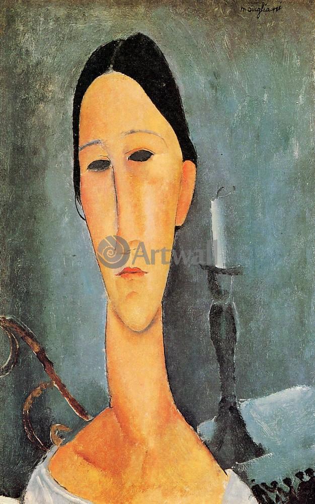Модильяни Амадео, картина Портрет Анны ЗборовскиМодильяни Амадео<br>Репродукция на холсте или бумаге. Любого нужного вам размера. В раме или без. Подвес в комплекте. Трехслойная надежная упаковка. Доставим в любую точку России. Вам осталось только повесить картину на стену!<br>