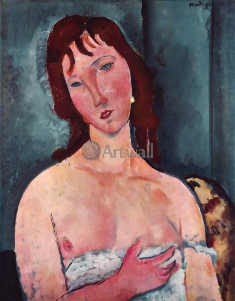 Модильяни Амадео, картина Портрет девушкиМодильяни Амадео<br>Репродукция на холсте или бумаге. Любого нужного вам размера. В раме или без. Подвес в комплекте. Трехслойная надежная упаковка. Доставим в любую точку России. Вам осталось только повесить картину на стену!<br>