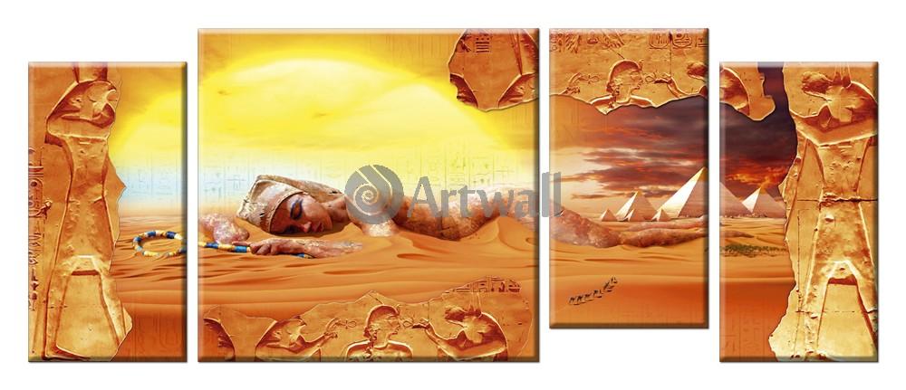 Модульная картина «Клеопатра», 116x50 см, модульная картинаАфриканские мотивы<br>Модульная картина на натуральном холсте и деревянном подрамнике. Подвес в комплекте. Трехслойная надежная упаковка. Доставим в любую точку России. Вам осталось только повесить картину на стену!<br>