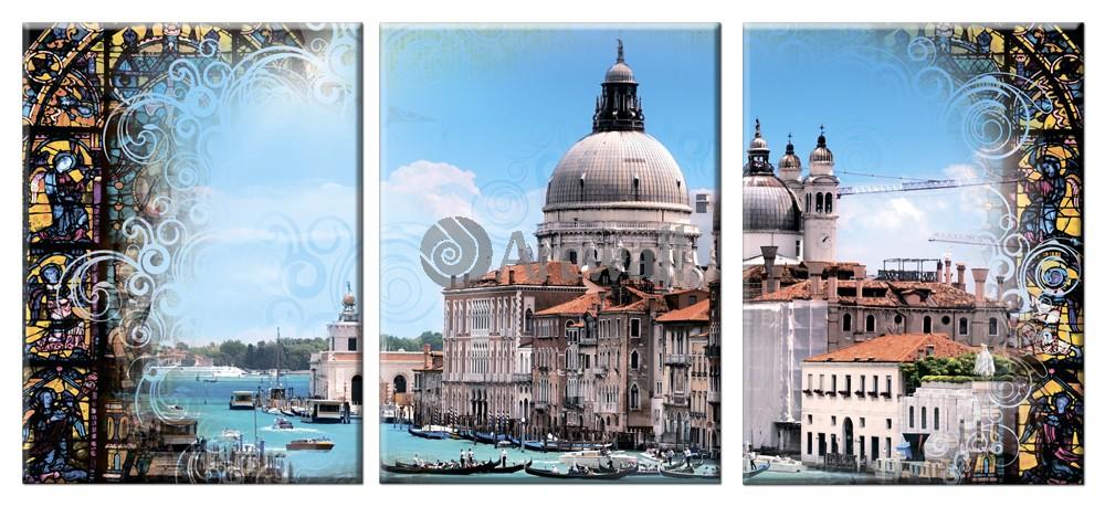 Модульная картина «Венеция. Большой канал»Города<br>Модульная картина на натуральном холсте и деревянном подрамнике. Подвес в комплекте. Трехслойная надежная упаковка. Доставим в любую точку России. Вам осталось только повесить картину на стену!<br>