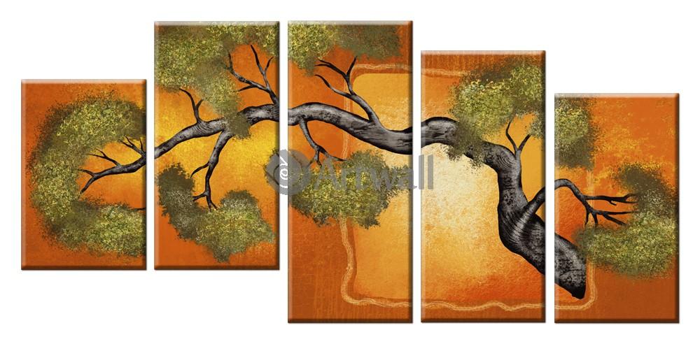 Модульная картина «Японское дерево»Природа<br>Модульная картина на натуральном холсте и деревянном подрамнике. Подвес в комплекте. Трехслойная надежная упаковка. Доставим в любую точку России. Вам осталось только повесить картину на стену!<br>