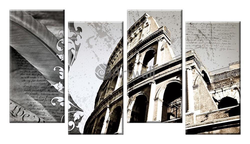 Модульная картина «Тайны римского Коллизея»Города<br>Модульная картина на натуральном холсте и деревянном подрамнике. Подвес в комплекте. Трехслойная надежная упаковка. Доставим в любую точку России. Вам осталось только повесить картину на стену!<br>