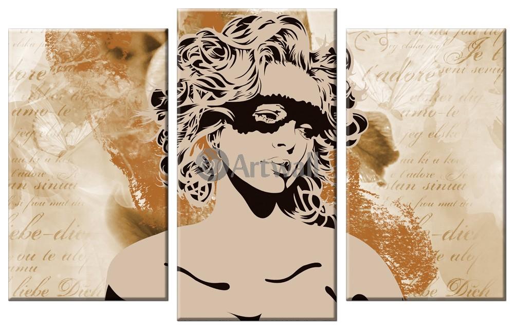 Модульная картина «Женские секреты», 78x50 см, модульная картинаЛюди<br>Модульная картина на натуральном холсте и деревянном подрамнике. Подвес в комплекте. Трехслойная надежная упаковка. Доставим в любую точку России. Вам осталось только повесить картину на стену!<br>