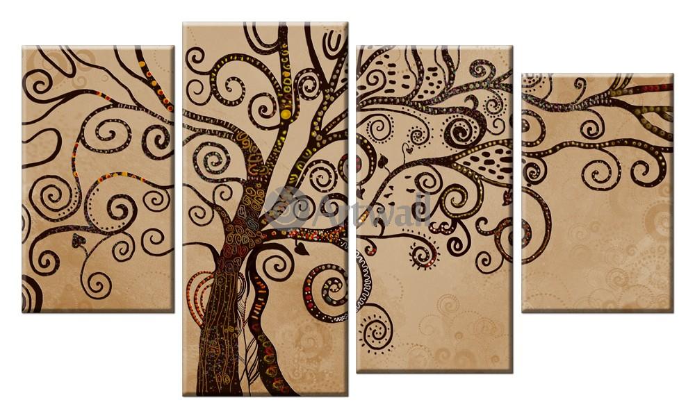 Модульная картина «Дерево мудрости»Природа<br>Модульная картина на натуральном холсте и деревянном подрамнике. Подвес в комплекте. Трехслойная надежная упаковка. Доставим в любую точку России. Вам осталось только повесить картину на стену!<br>