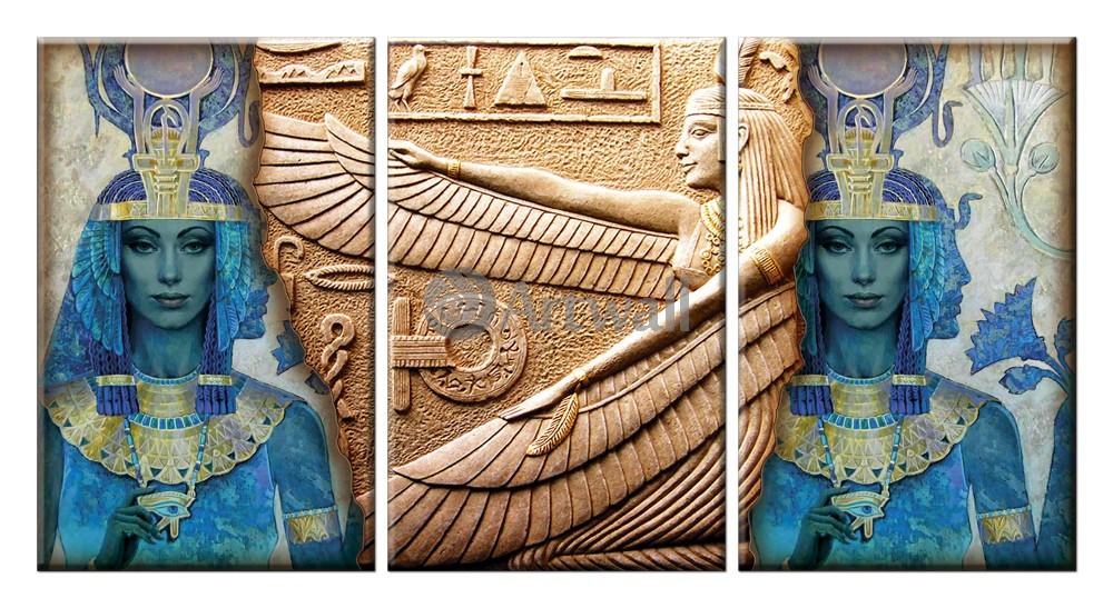 Модульная картина «Египетские письмена»Африканские мотивы<br>Модульная картина на натуральном холсте и деревянном подрамнике. Подвес в комплекте. Трехслойная надежная упаковка. Доставим в любую точку России. Вам осталось только повесить картину на стену!<br>