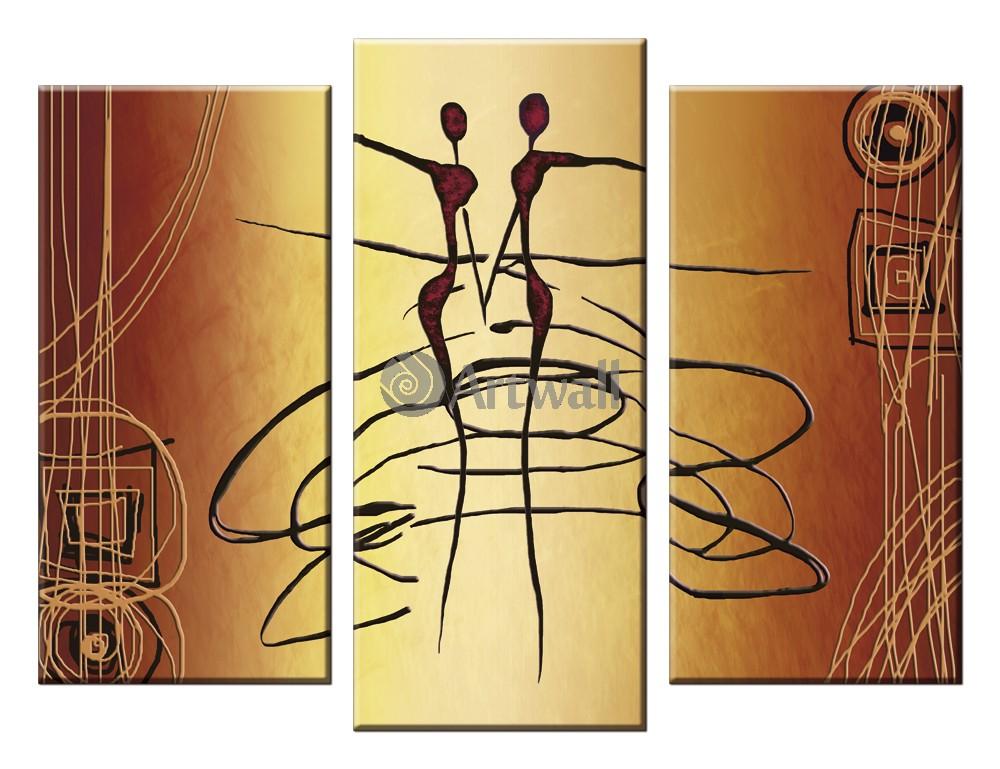 Модульная картина «Вихревой танец»Люди<br>Модульная картина на натуральном холсте и деревянном подрамнике. Подвес в комплекте. Трехслойная надежная упаковка. Доставим в любую точку России. Вам осталось только повесить картину на стену!<br>