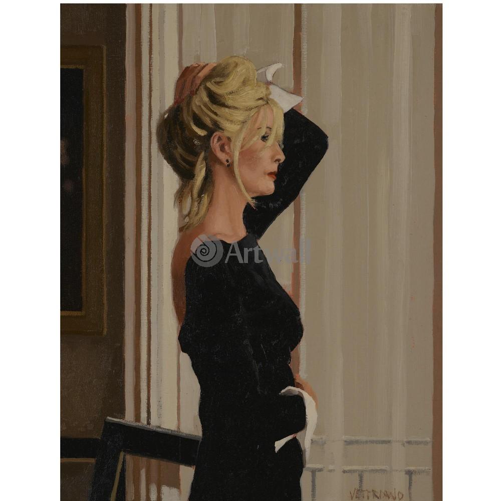 Веттриано Джек, картина Блондинка в черномВеттриано Джек<br>Репродукция на холсте или бумаге. Любого нужного вам размера. В раме или без. Подвес в комплекте. Трехслойная надежная упаковка. Доставим в любую точку России. Вам осталось только повесить картину на стену!<br>