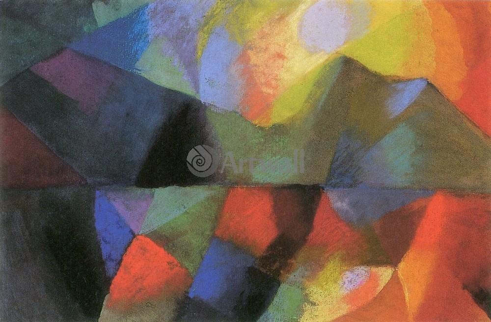 Маке Август, картина Цветная композицияМаке Август<br>Репродукция на холсте или бумаге. Любого нужного вам размера. В раме или без. Подвес в комплекте. Трехслойная надежная упаковка. Доставим в любую точку России. Вам осталось только повесить картину на стену!<br>