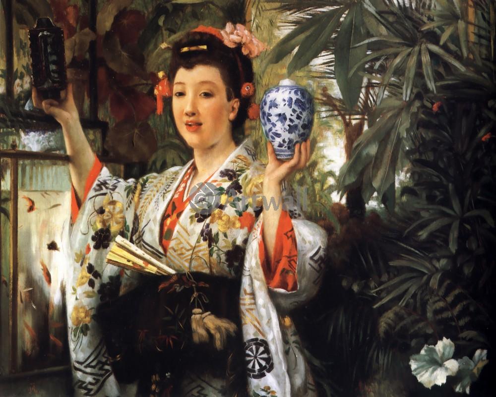 Тиссо Джеймс, картина Японская вазаТиссо Джеймс<br>Репродукция на холсте или бумаге. Любого нужного вам размера. В раме или без. Подвес в комплекте. Трехслойная надежная упаковка. Доставим в любую точку России. Вам осталось только повесить картину на стену!<br>