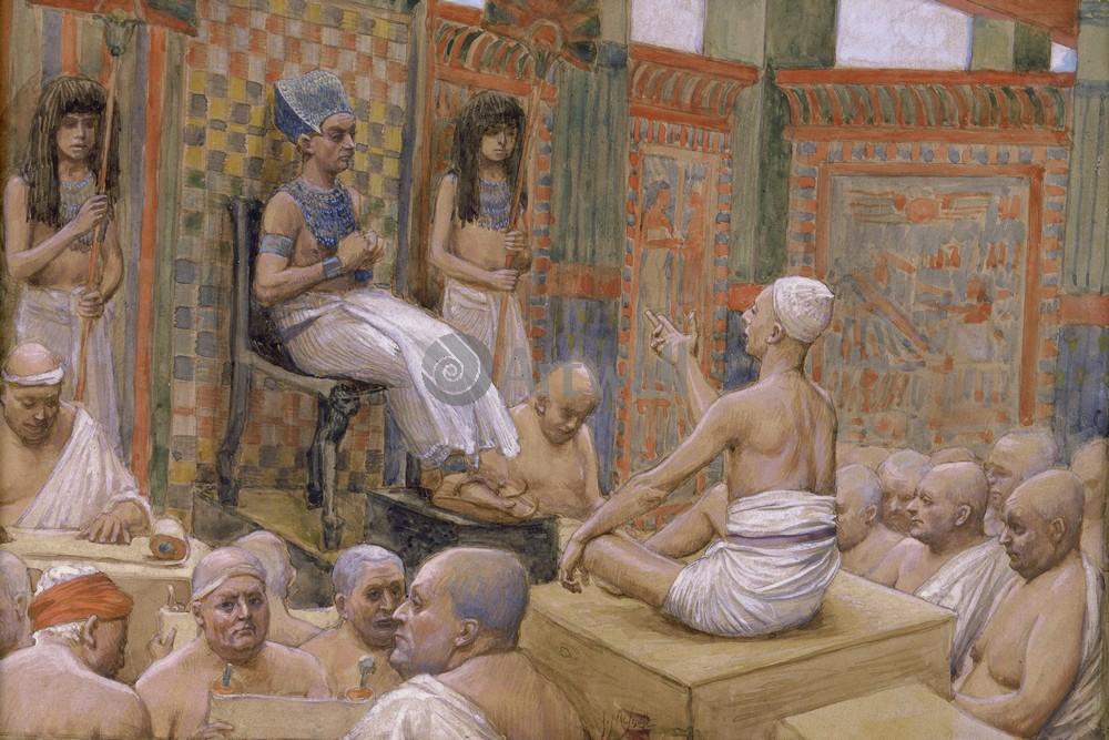 Тиссо Джеймс - иллюстрации к Ветхому Завету, картина Иосиф объясняет видения фараонуТиссо Джеймс - иллюстрации к Ветхому Завету<br>Репродукция на холсте или бумаге. Любого нужного вам размера. В раме или без. Подвес в комплекте. Трехслойная надежная упаковка. Доставим в любую точку России. Вам осталось только повесить картину на стену!<br>