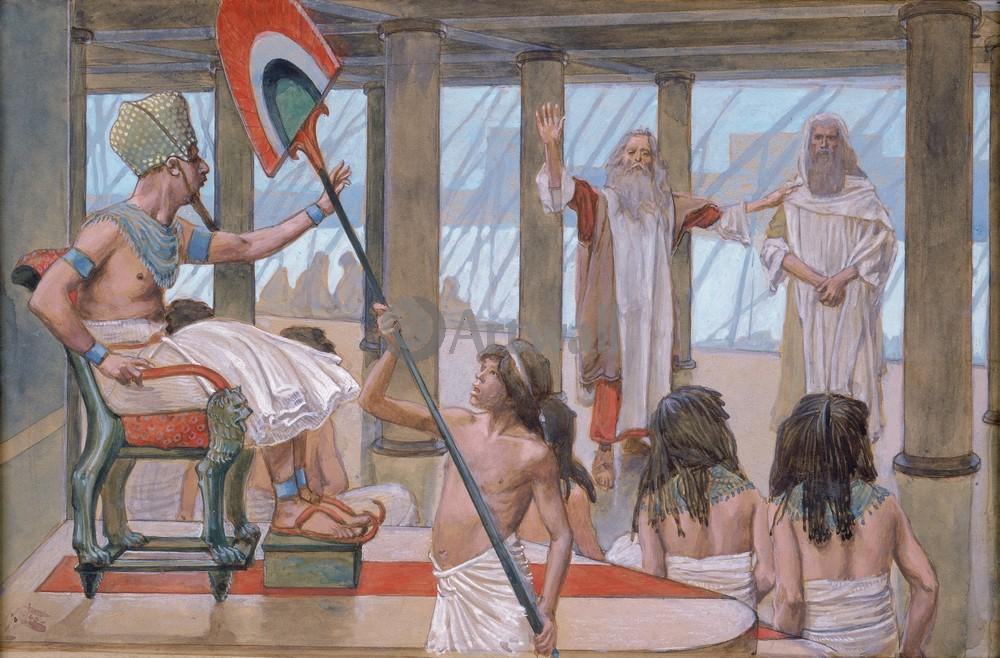 Тиссо Джеймс - иллюстрации к Ветхому Завету, картина Моисей говорит с фараономТиссо Джеймс - иллюстрации к Ветхому Завету<br>Репродукция на холсте или бумаге. Любого нужного вам размера. В раме или без. Подвес в комплекте. Трехслойная надежная упаковка. Доставим в любую точку России. Вам осталось только повесить картину на стену!<br>