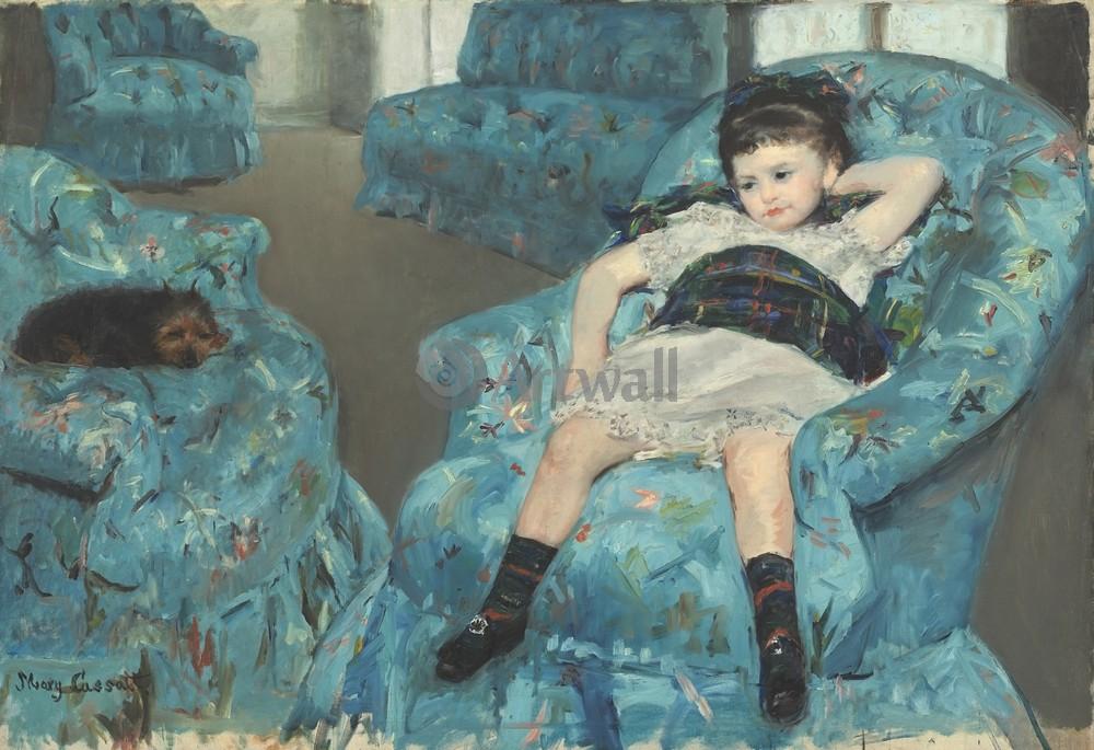 Кассат Мэри, картина Девочка в голубом креслеКассат Мэри<br>Репродукция на холсте или бумаге. Любого нужного вам размера. В раме или без. Подвес в комплекте. Трехслойная надежная упаковка. Доставим в любую точку России. Вам осталось только повесить картину на стену!<br>