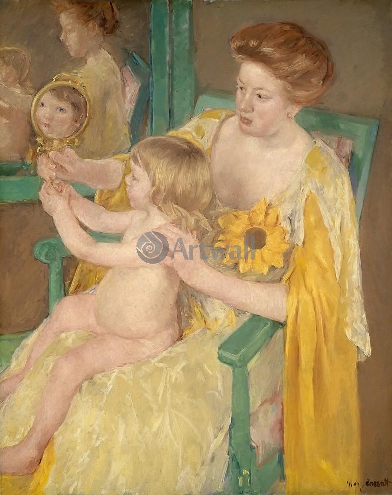 Кассат Мэри, картина Мать и дитяКассат Мэри<br>Репродукция на холсте или бумаге. Любого нужного вам размера. В раме или без. Подвес в комплекте. Трехслойная надежная упаковка. Доставим в любую точку России. Вам осталось только повесить картину на стену!<br>