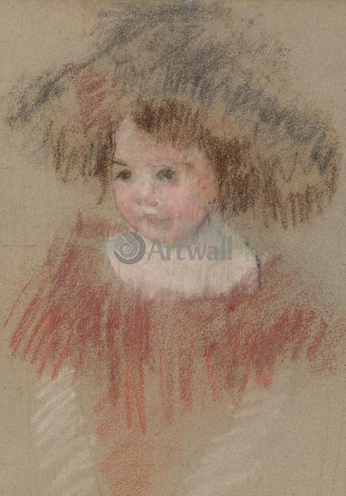 Кассат Мэри, картина Ребенок в большой шляпеКассат Мэри<br>Репродукция на холсте или бумаге. Любого нужного вам размера. В раме или без. Подвес в комплекте. Трехслойная надежная упаковка. Доставим в любую точку России. Вам осталось только повесить картину на стену!<br>
