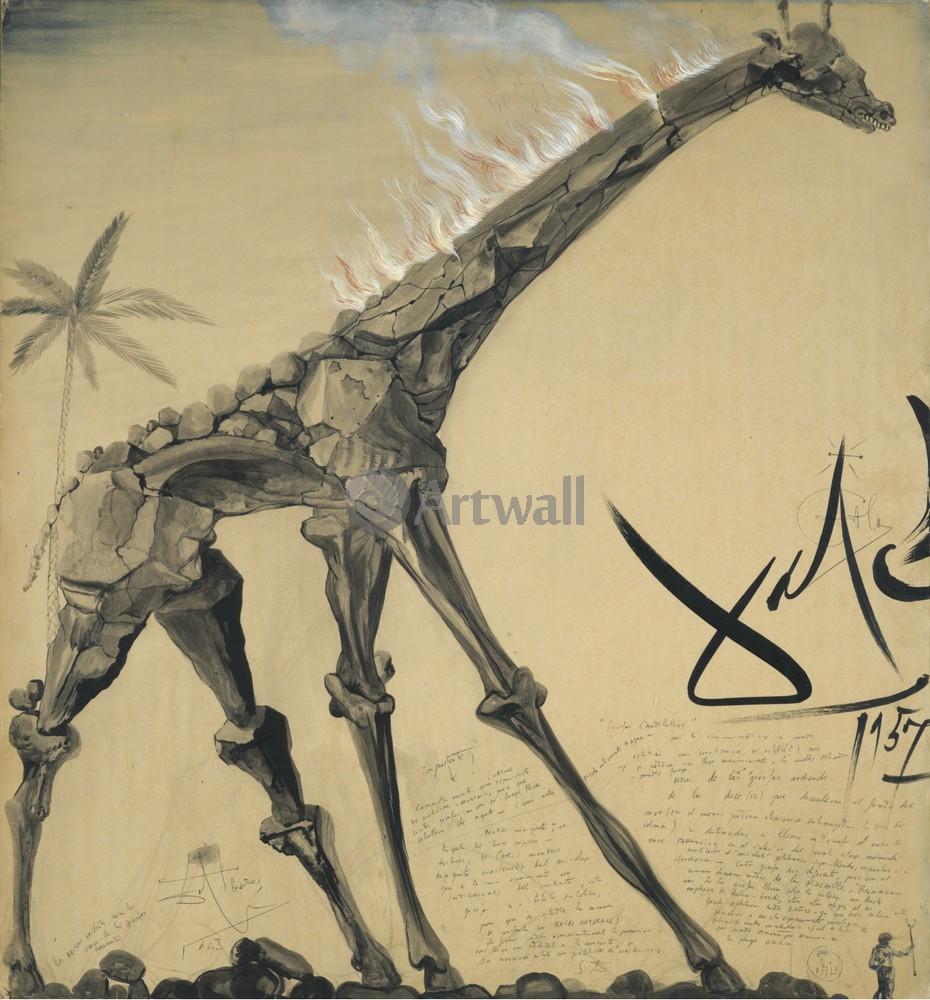 Ночь (жираф канделябр), 20x22 см, на бумагеДали Сальвадор<br>Постер на холсте или бумаге. Любого нужного вам размера. В раме или без. Подвес в комплекте. Трехслойная надежная упаковка. Доставим в любую точку России. Вам осталось только повесить картину на стену!<br>